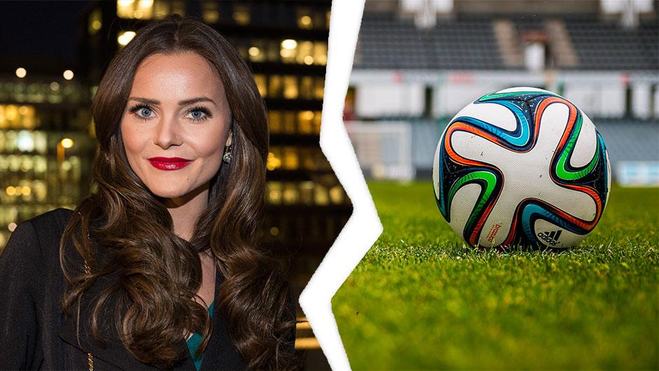OVER: Fra venstre Caroline Berg Eriksen, til høyre Fotball
